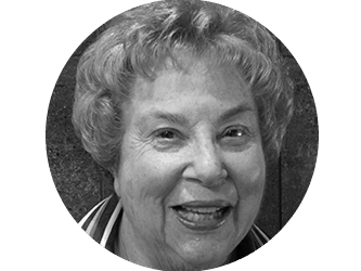 Black and white photo of Janice Rosenberg