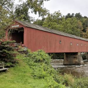 Covered bridge in the Hudson Valley NY